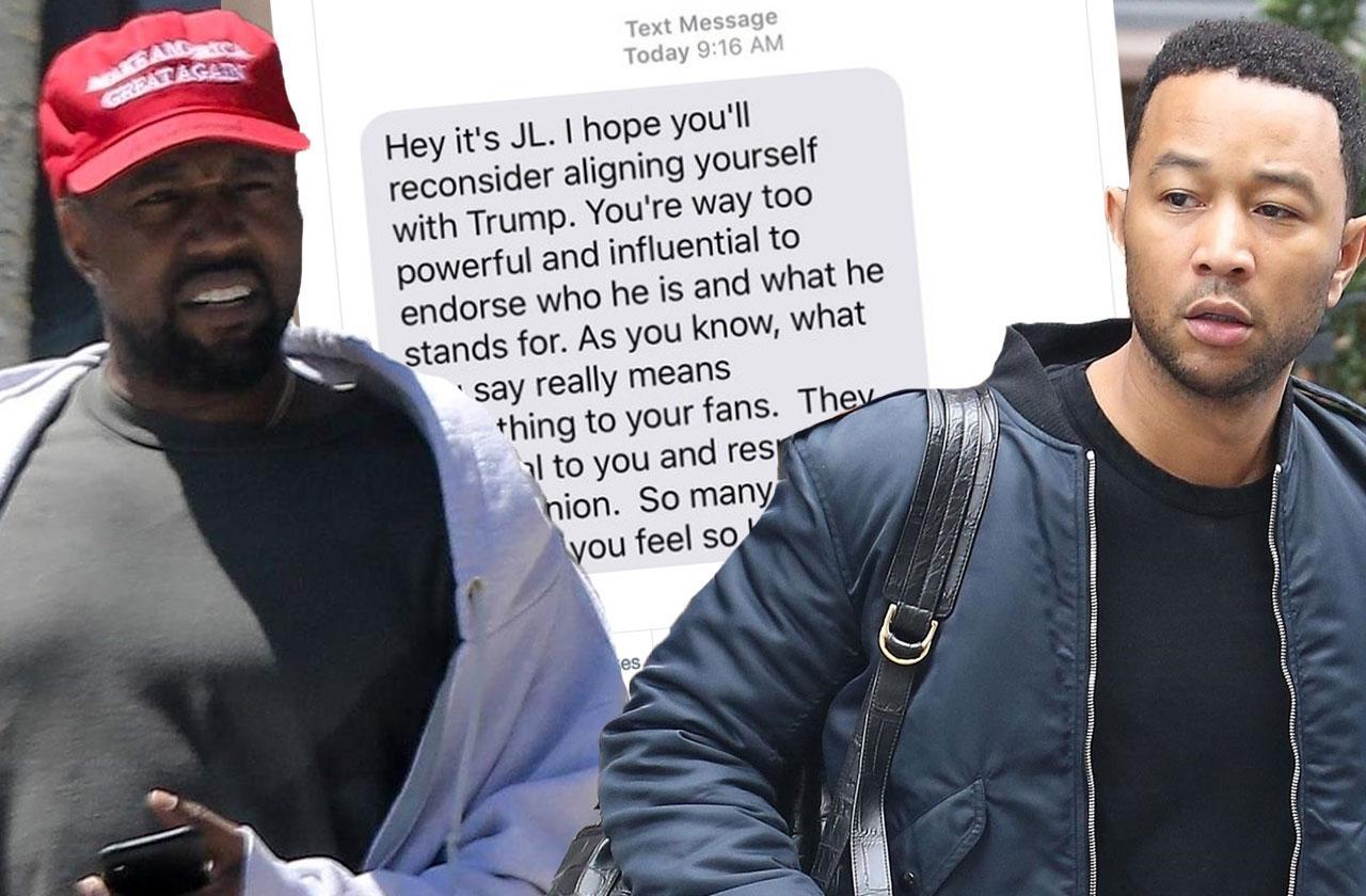 //Kanye West John Legend Texts Twitter pp