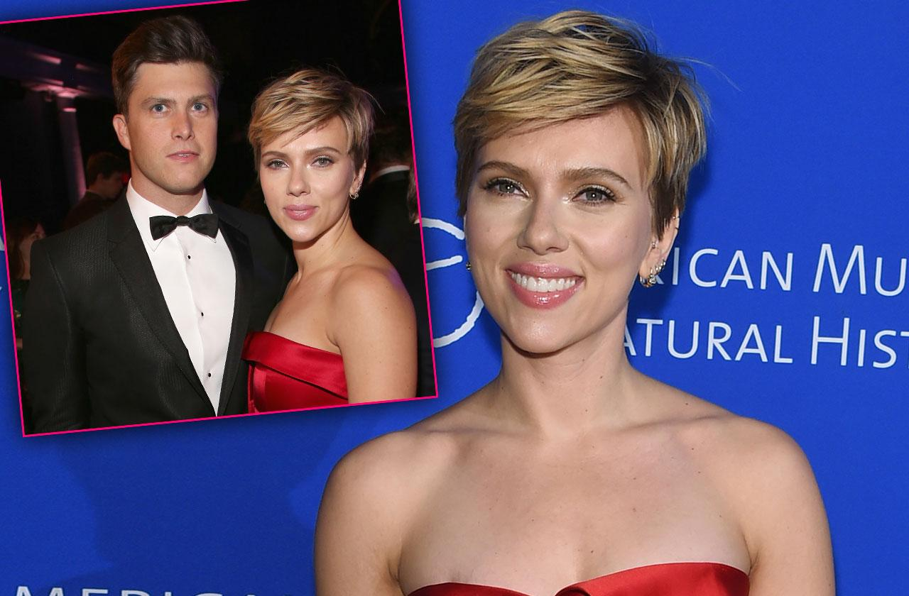 Scarlett Johansson Colin Jost Couple Debut Photos