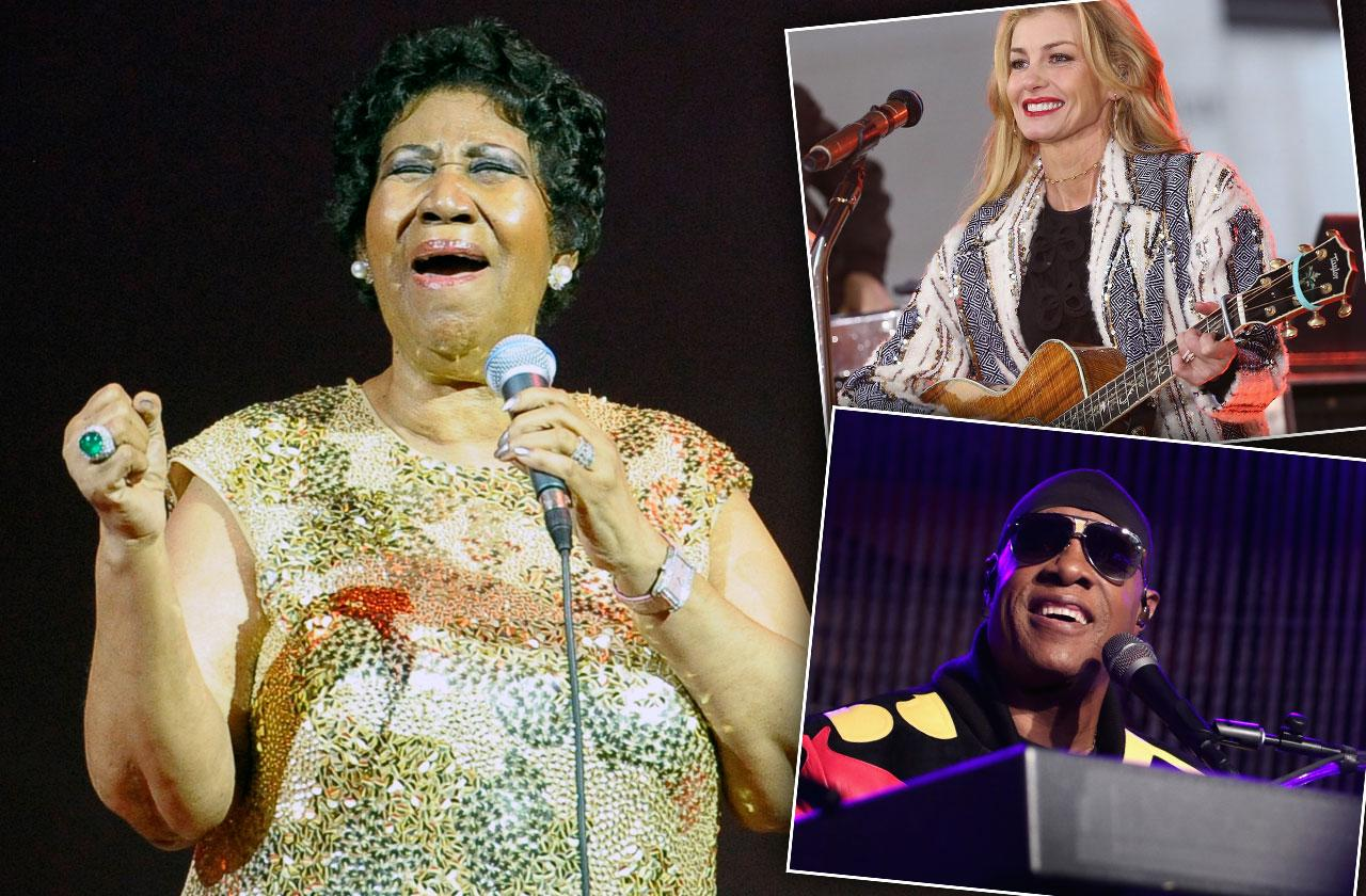 Celebrities Perform Aretha Franklin Funeral