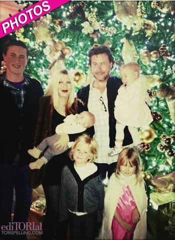 //tori spelling family photos