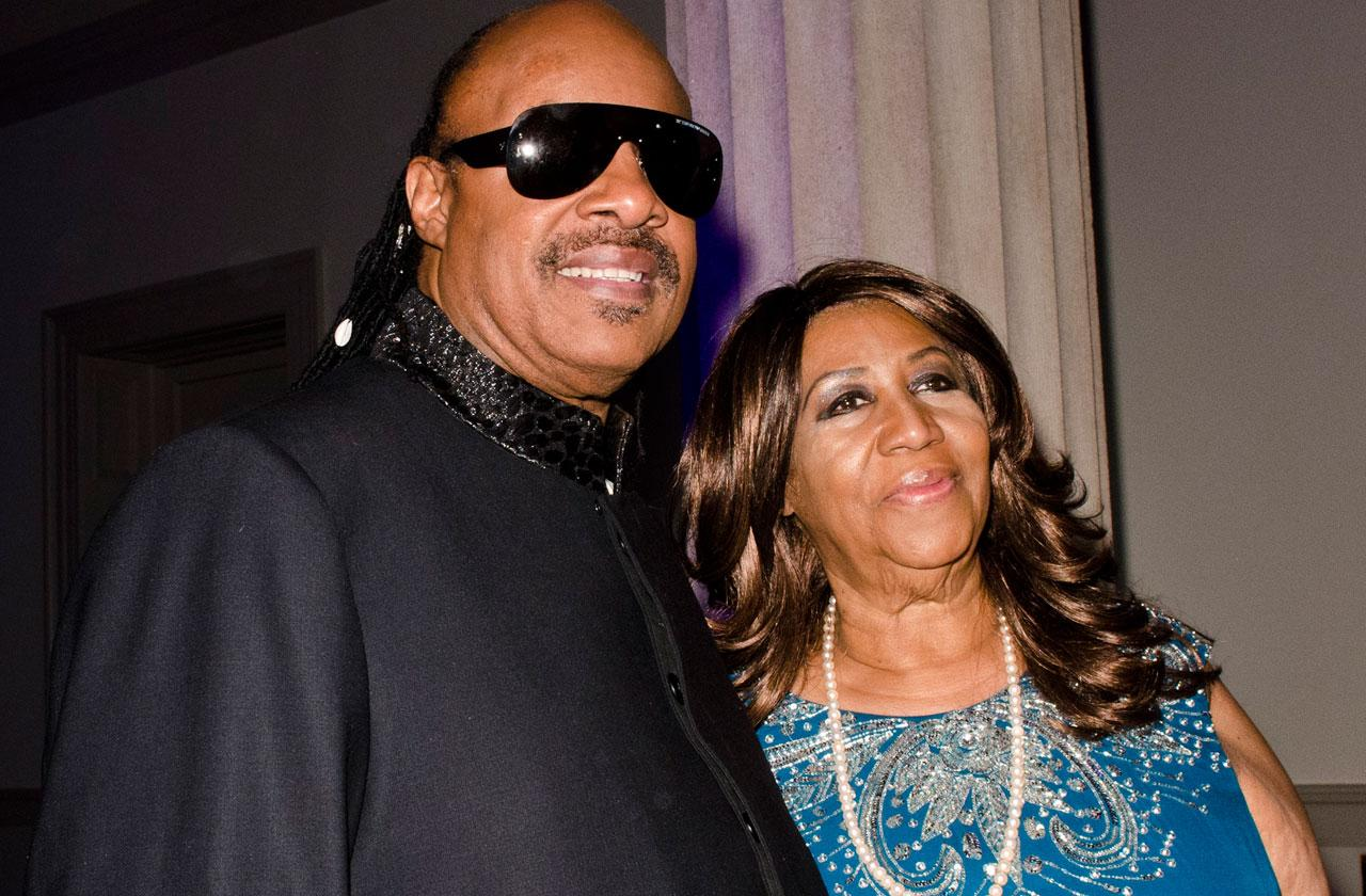 Stevie Wonder Visits Aretha Franklin Hospice