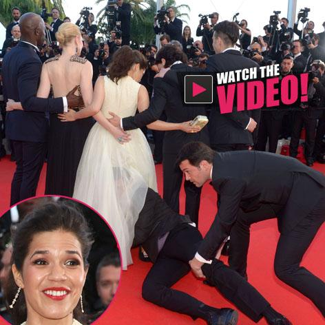 //america ferrera attacked at cannes square