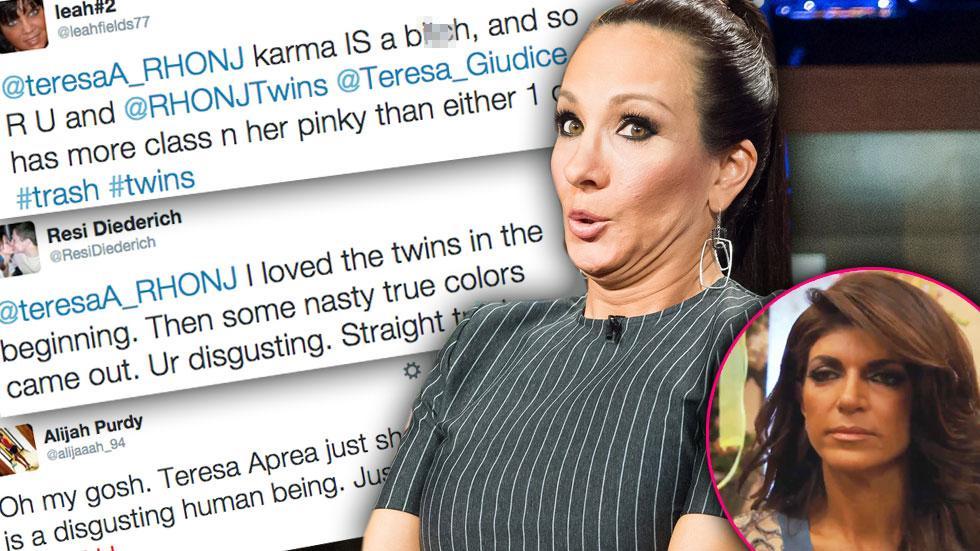 //teresa aprea on wwhl hate tweets