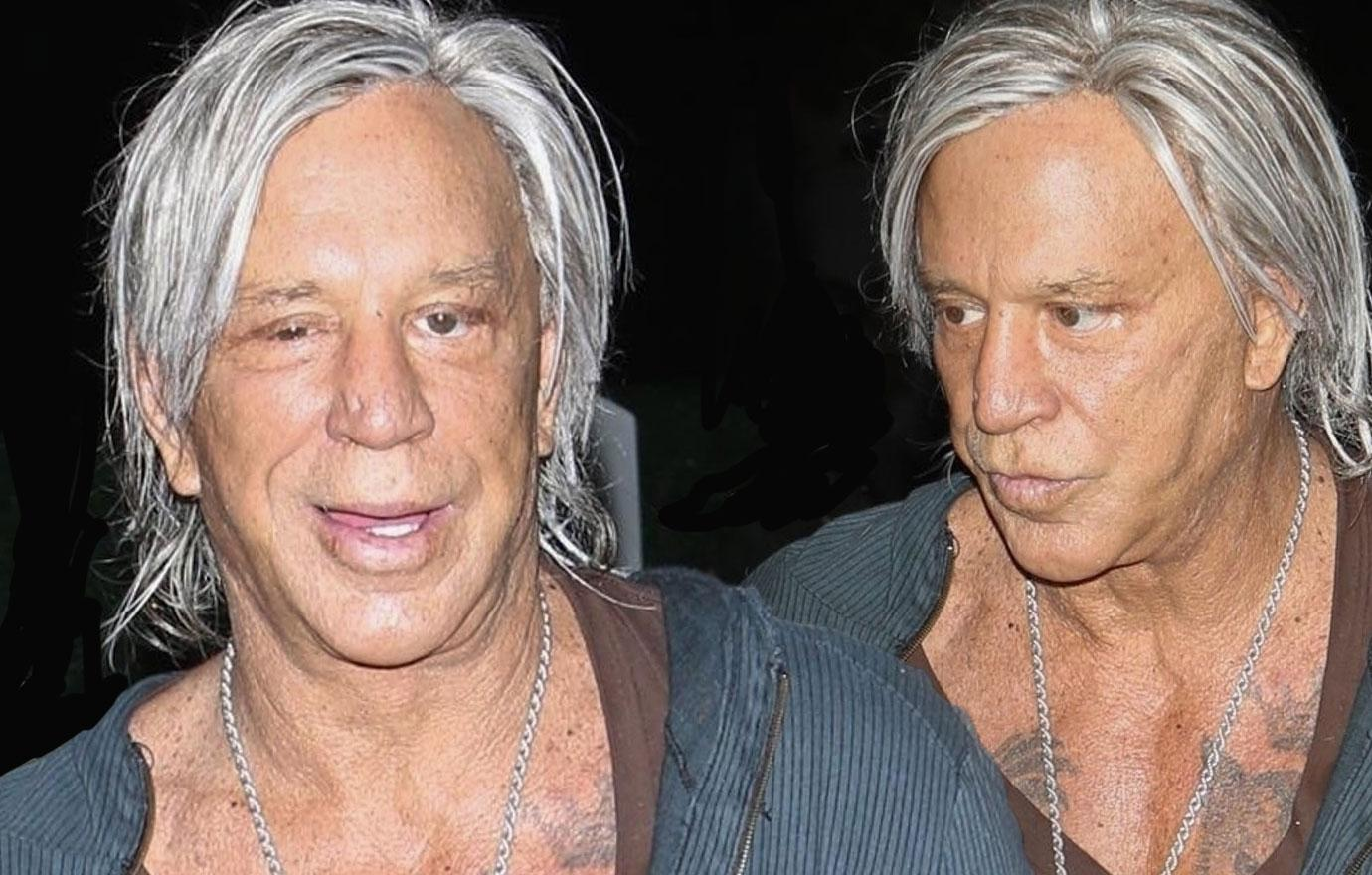 Mickey Rourke Looks Unrecognizable At Concert