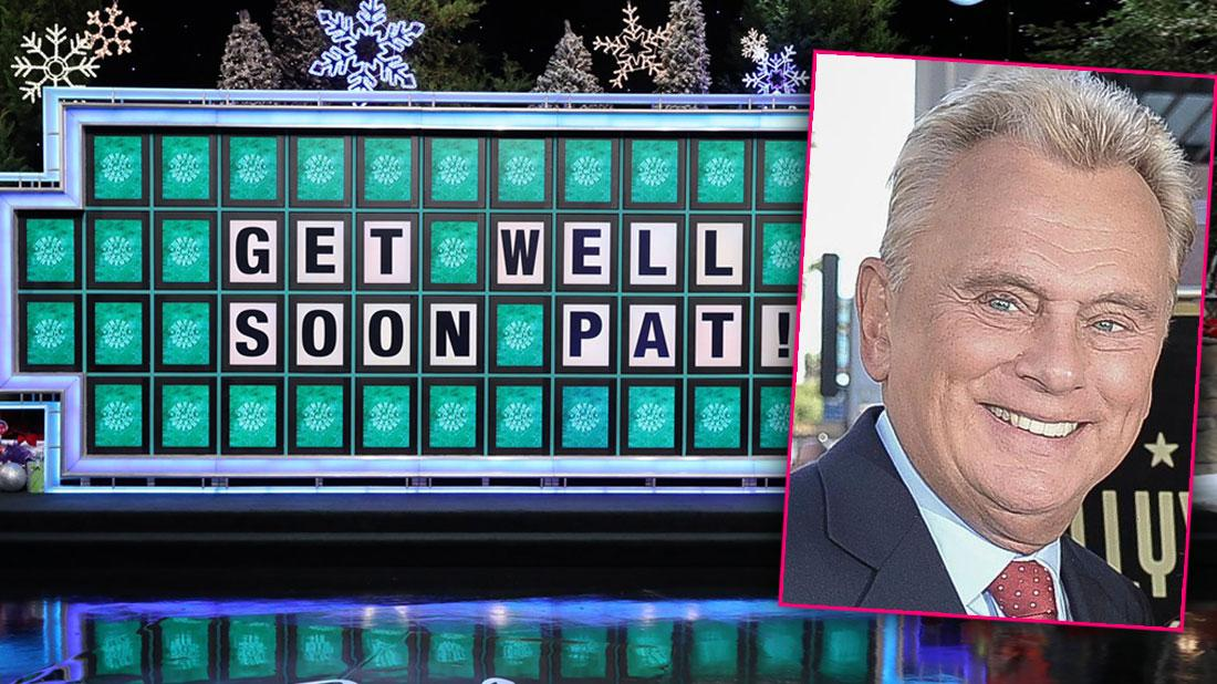 Wheel Of Fortune Letters Spelling Out GET WELL PAT! Inset Of Pat Sajak