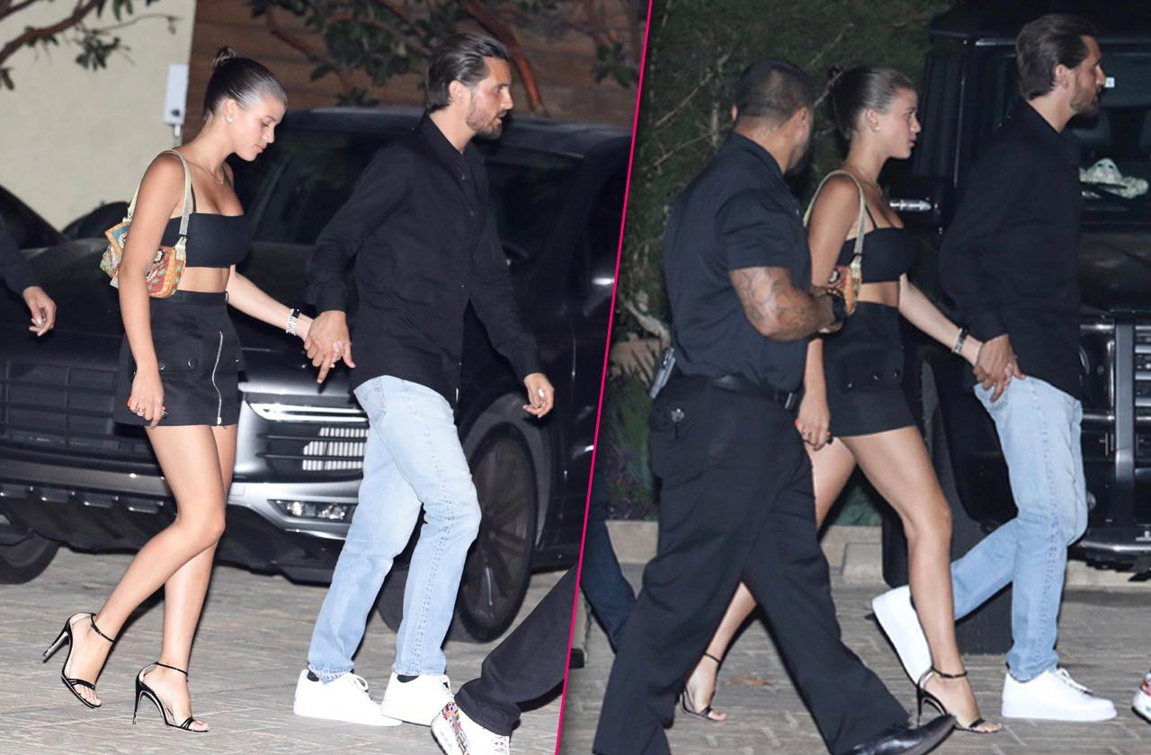 Sofia Richie Flaunts Body On Dinner Date With Scott Disick