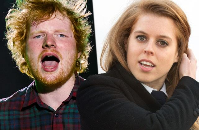 Ed Sheeran Face Sliced Sword Princess Beatrice Party Scar Pics