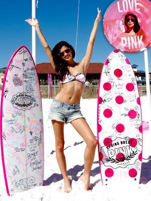 //victorias secret pink spring break hosted sara sampaio tall