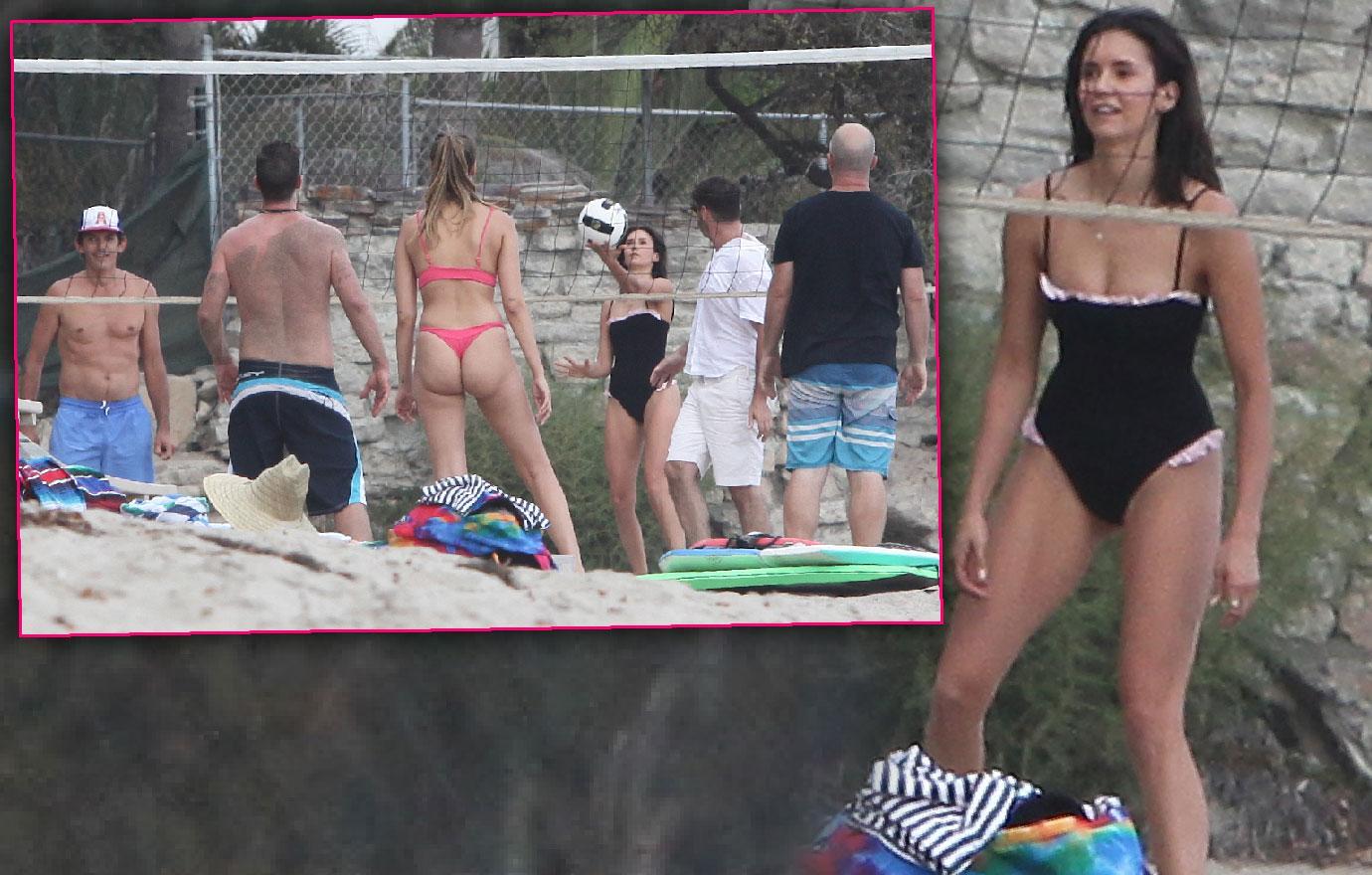 Nina Dobrev Flaunts Body In One Piece Bathing Suit