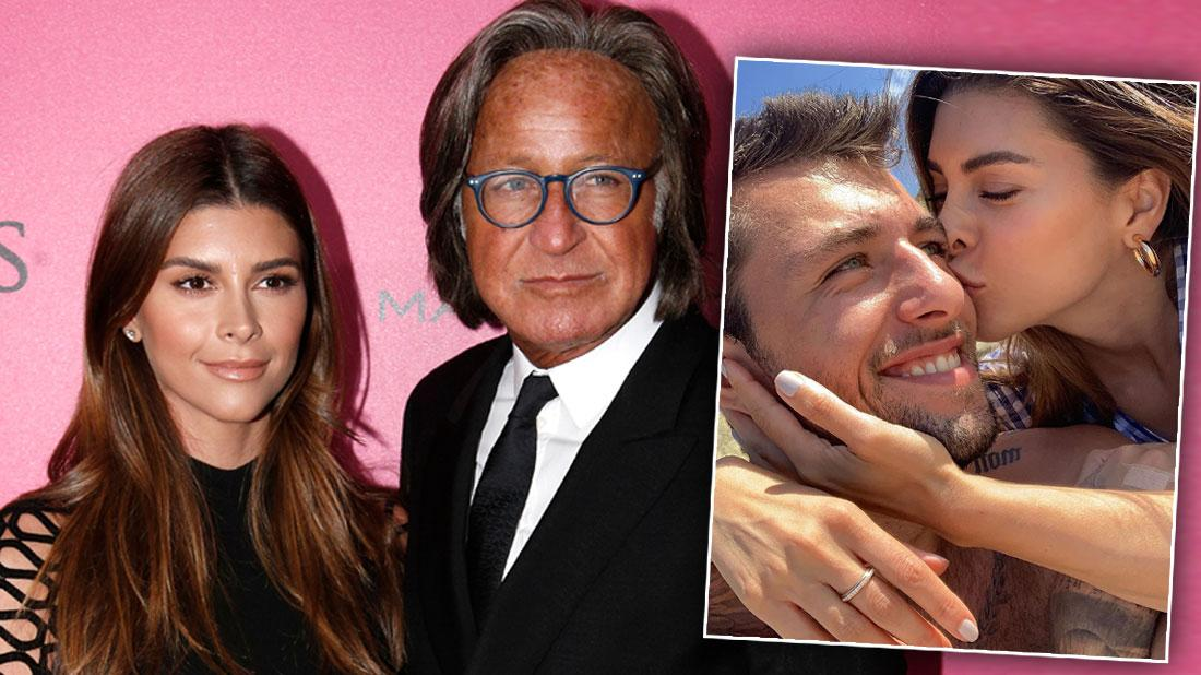 Shiva Safai with Mohamed Hadid on the Red Carpet, Inset Shiva Safai with New Boyfriend via Instagram