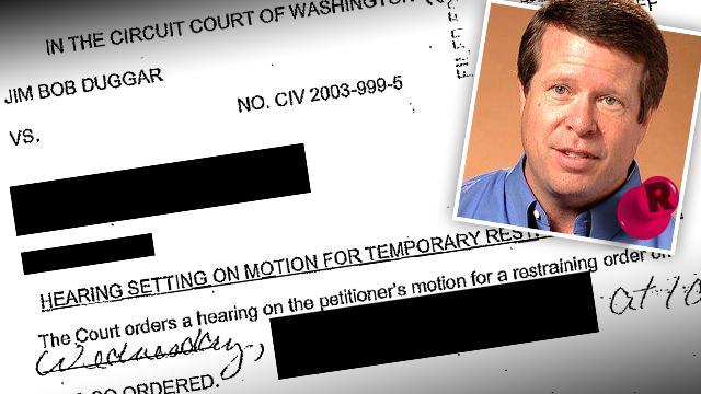 Jim Bob Duggar Restraining Order