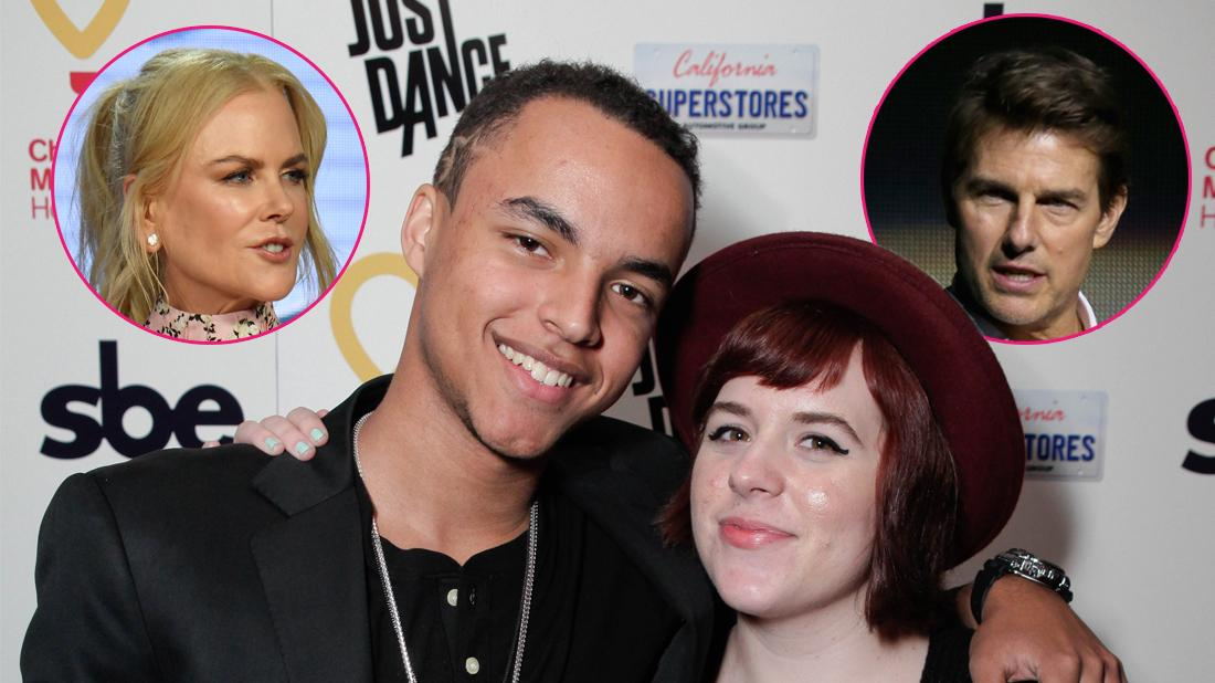 Connor Cruise and Bella Cruise attend Connor's 17th birthday party benefiting Children's Miracle Network Hospitals sponsored by California superstores Just Dance 3 and SBE at Hyde Staples on January 18, 2012 in Los Angeles, California. Inset left, Nicole Kidman, inset right, Tom Cruise.