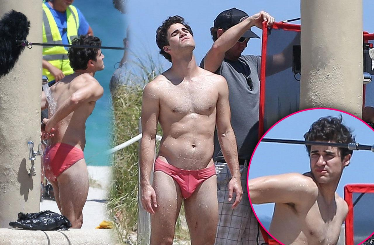 Darren Criss Shirtless Speedo American Crime Story