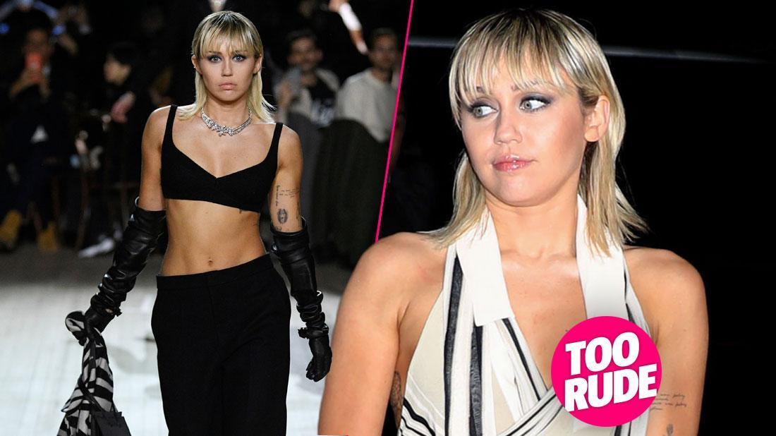 Miley Cyrus Has Nip Slip At Marc Jacobs Runway Show: Photos