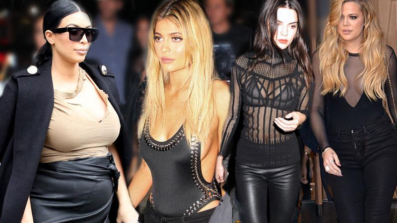 Kardashians Most Naked Moments From NYFW