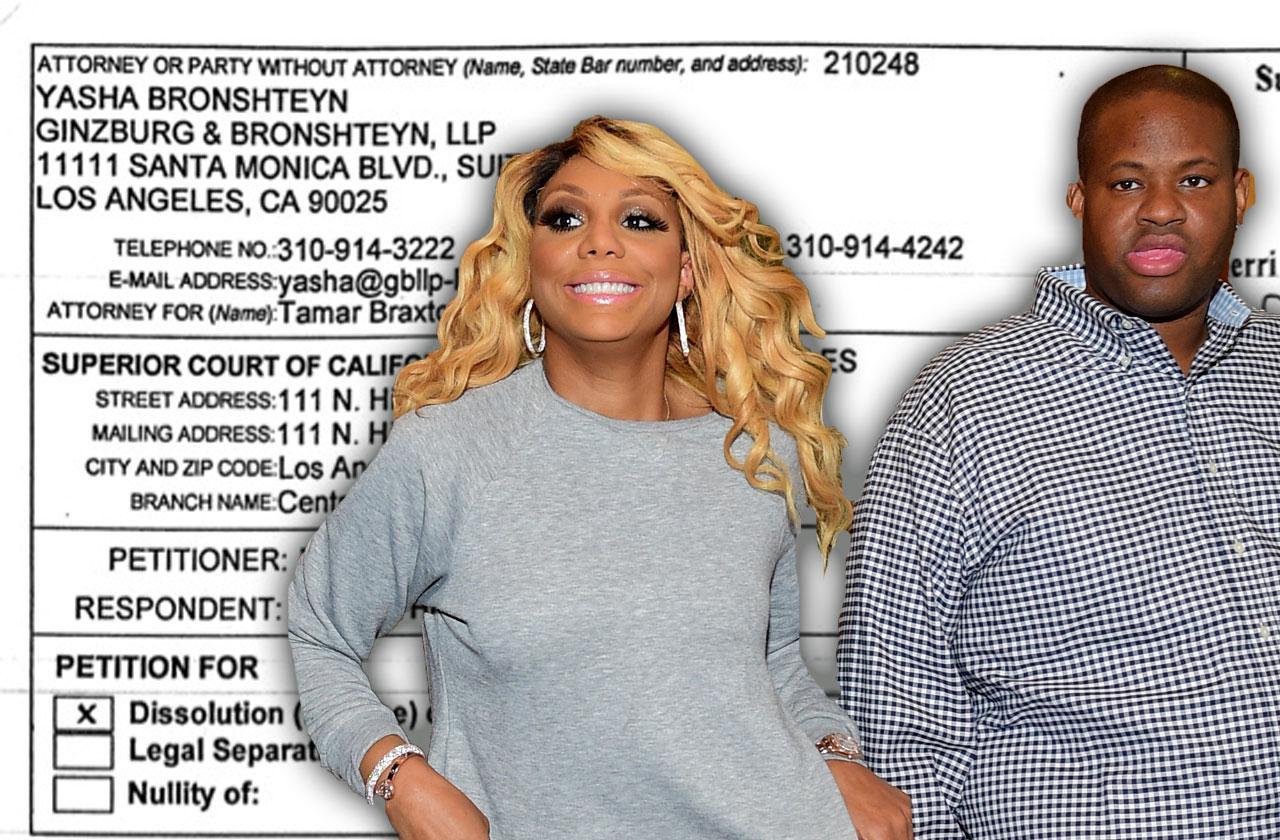 tamar braxton divorce vincent herbert documents