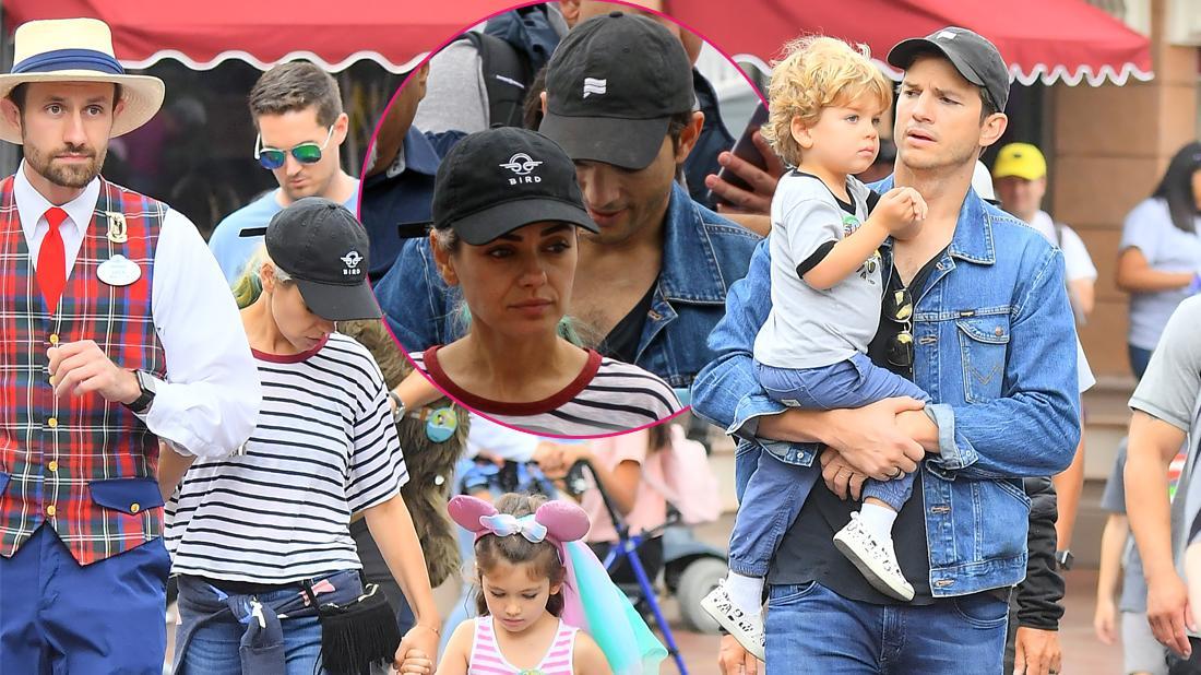 Ashton Kutcher Celebrates Daughter's Birthday At Disneyland
