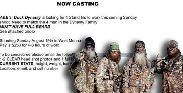 dynasty duck casting call