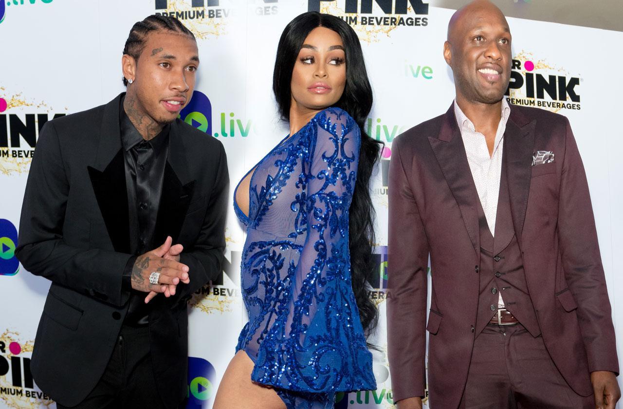 Kardashian Exes Blac Chyna Tyga Lamar odom same event
