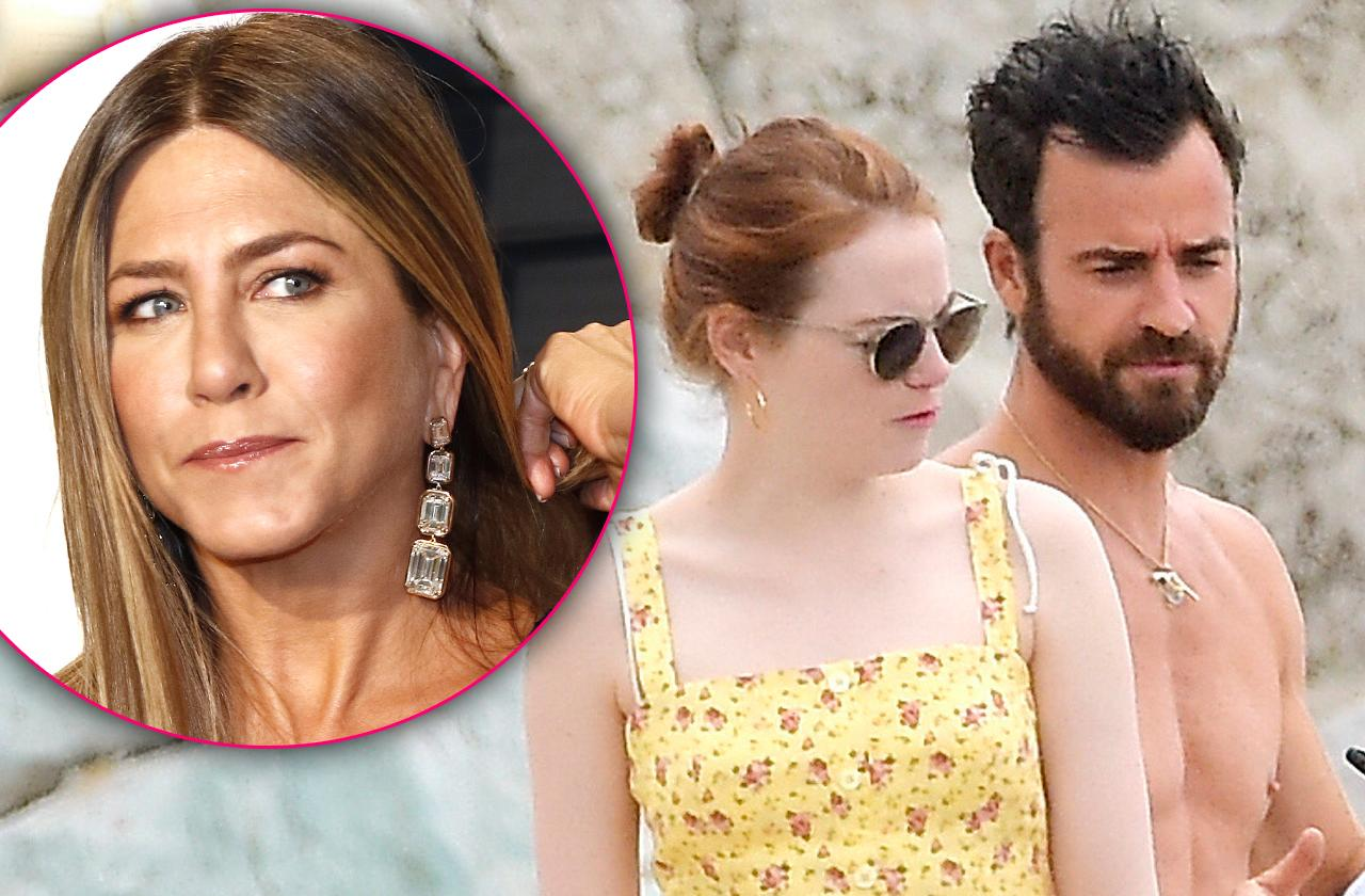 Justin Theroux And Emma Stone Get Romantic, While Jennifer Aniston Fumes