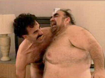 //sascha baron cohen borat nude scene