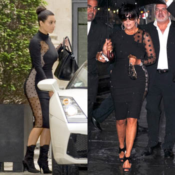 //kim kardashian steal style mom