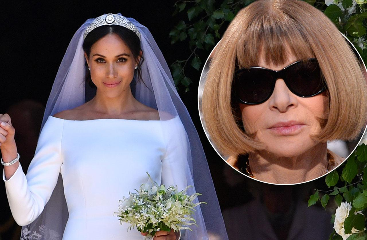 What Anna Wintour Thinks Meghan Markle Wedding Dress