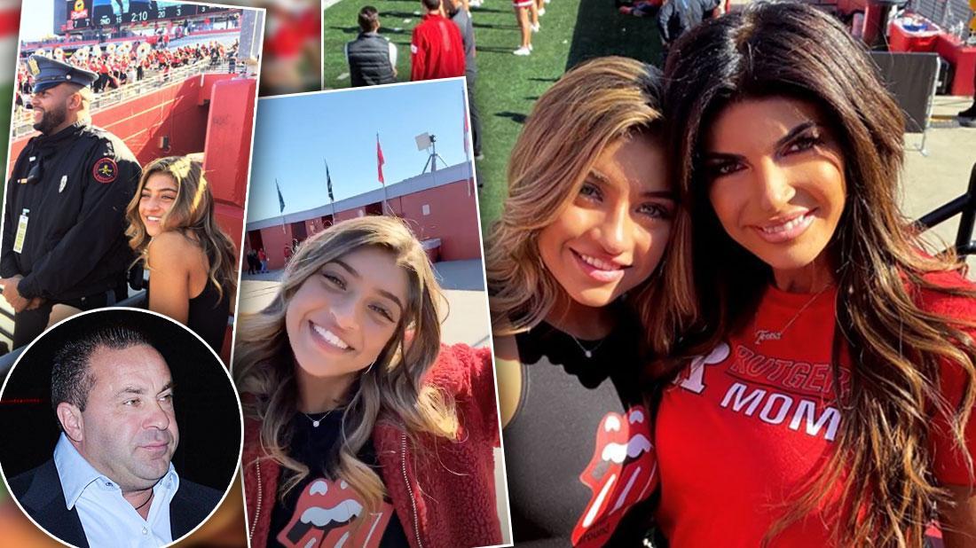 Teresa Giudice At Football Game With Gia Amid Joe Deportation