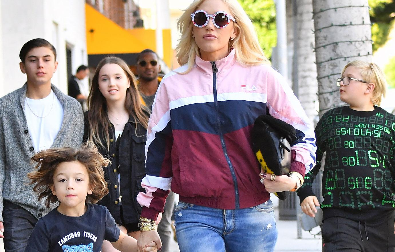 Gwen Stefani Spends Time With Son Apollo