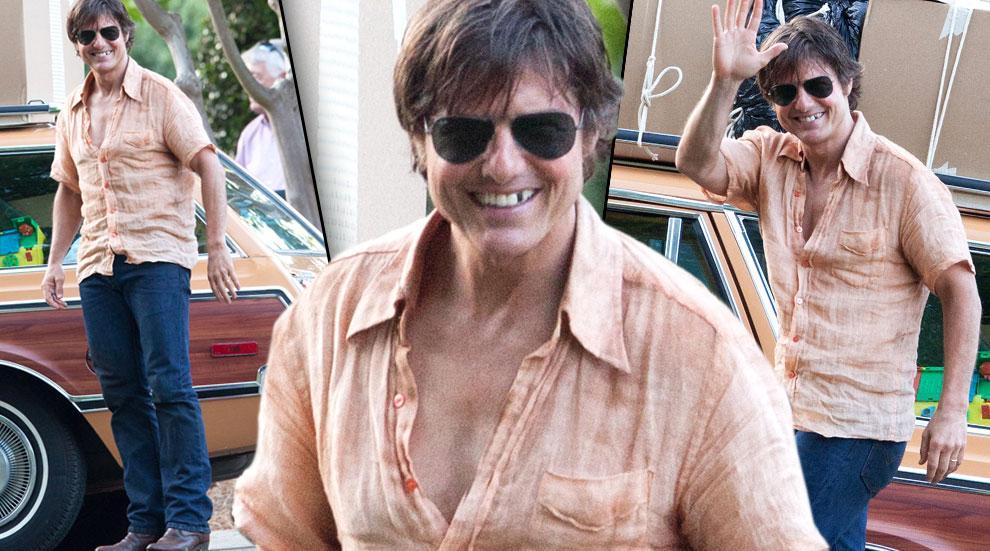 Tom Cruise Missing Teeth On Mena Movie Set