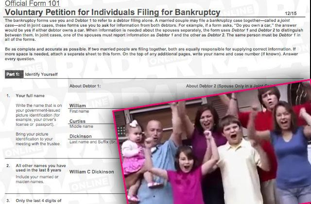 //extreme makeover home edition dickinson family bankruptcy pp