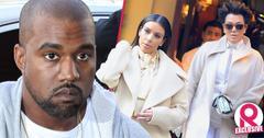 //kanye west bans kim kardashian filming spin off show kris jenner furious wide