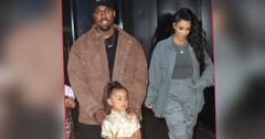 Kim Kardashian and Kanye West out and about.
