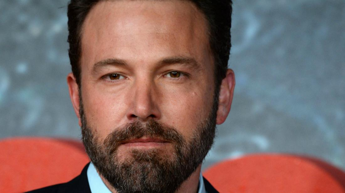 Ben Affleck looked healthy with a well cropped beard and a dark suit.