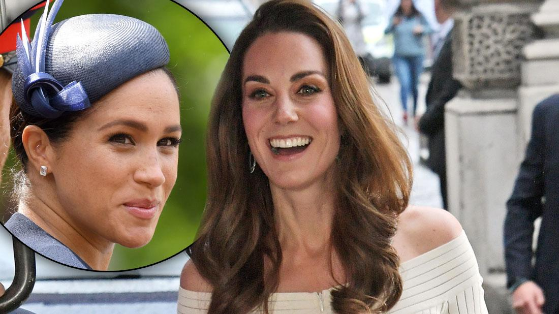 Meghan Who? Kate Steals Spotlight In White Dress, Sparkling Heels