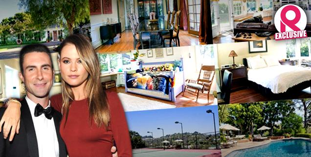 //adam levine behati prinsloo transforming bachelor pad family wide