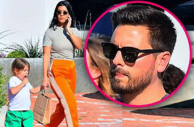 Kourtney Kardashian Hands Son Reign To Scott Disick