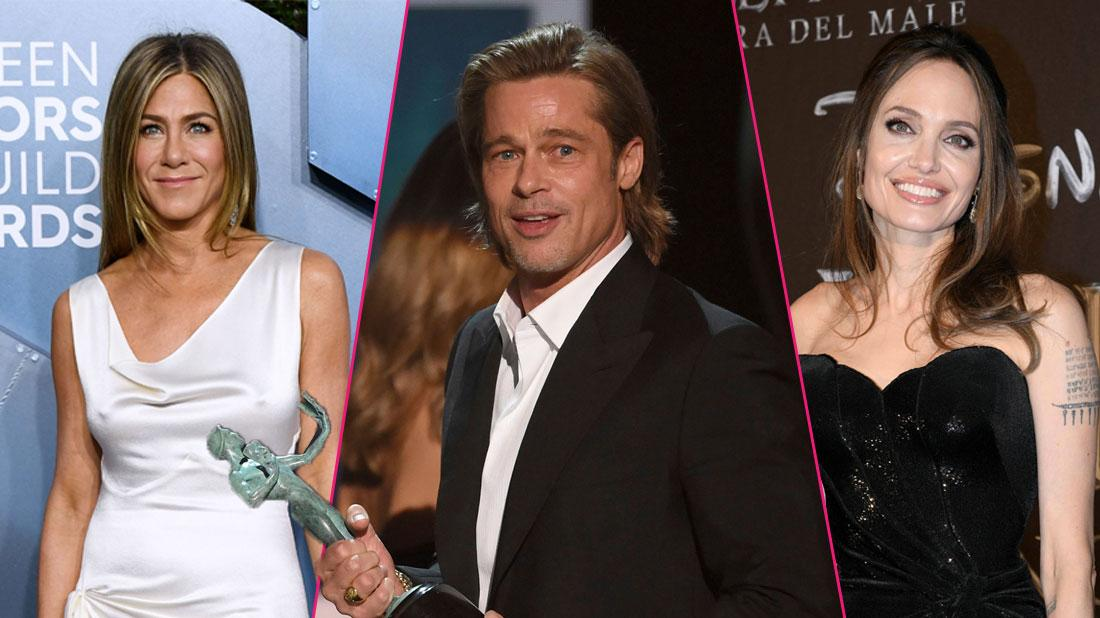 Brad Pitt Cracks Jokes About Jen & Angie Divorces At SAG Awards