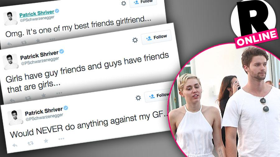 Miley Cyrus Patrick Schwarzenegger Cheating Scandal Denial