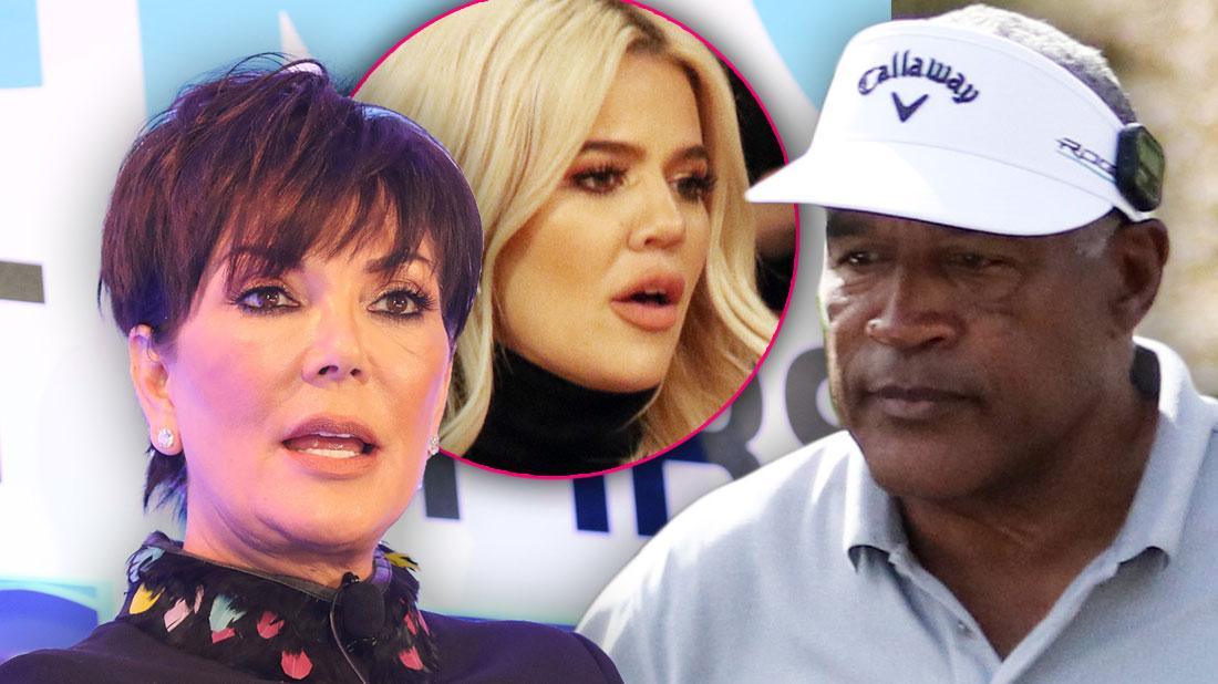 Kris Jenner Photo Overlapping O. J. Simpson Photo with Inset of Khloe Kardashian