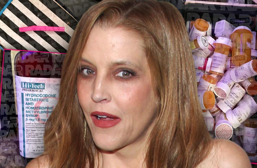 lisa marie presley drug den cocaine pills booze addiction