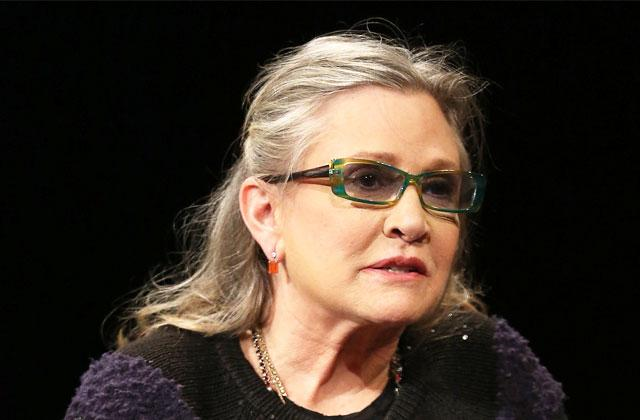 //carrie fisher heart attack critical condition hospital pp