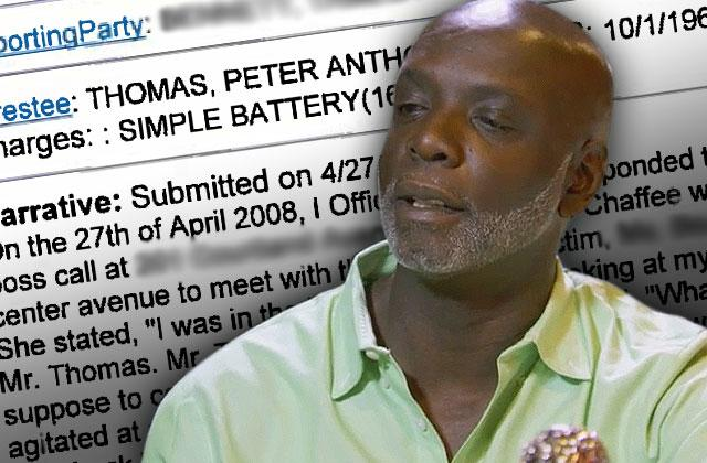 peter thomas arrested battery female employee