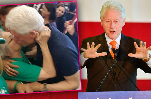 Bill Clinton Cheating On Hillary Clinton? Ex- President Kisses Woman At Rally