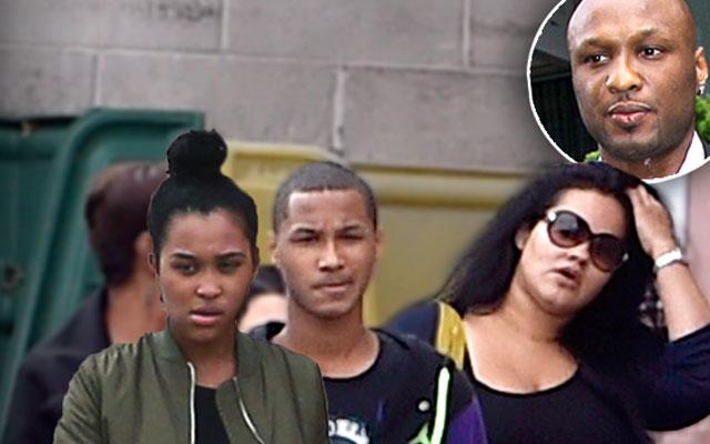 //lamar odom kids returning new york city khloe kardashian pp