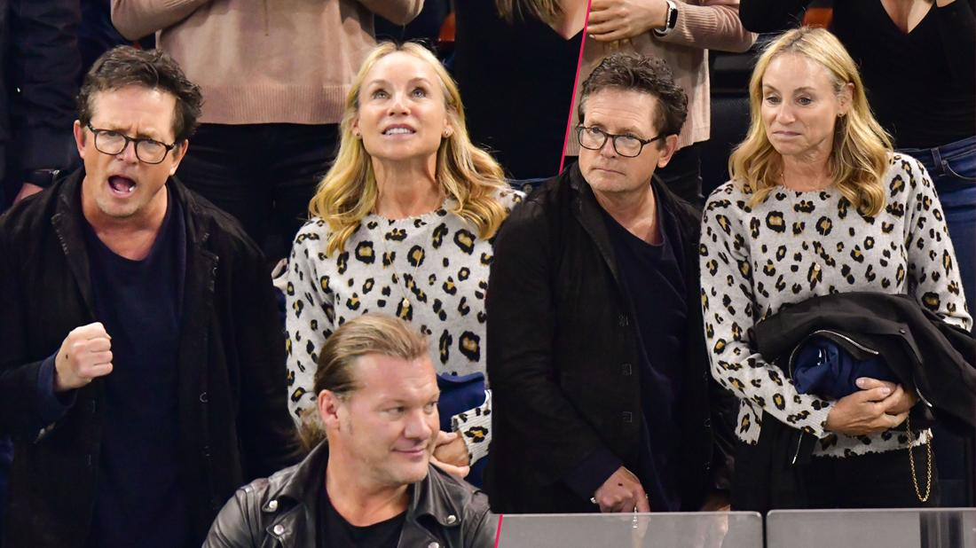 Michael J. Fox & Wife Tracy Pollan Attend Hockey Game Following Drinking Binge Admission