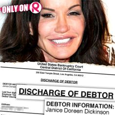 //janice dickinson bankruptcy debt discharged los angeles sq