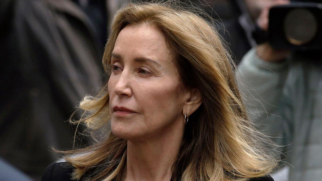 Felicity Huffman coming from court