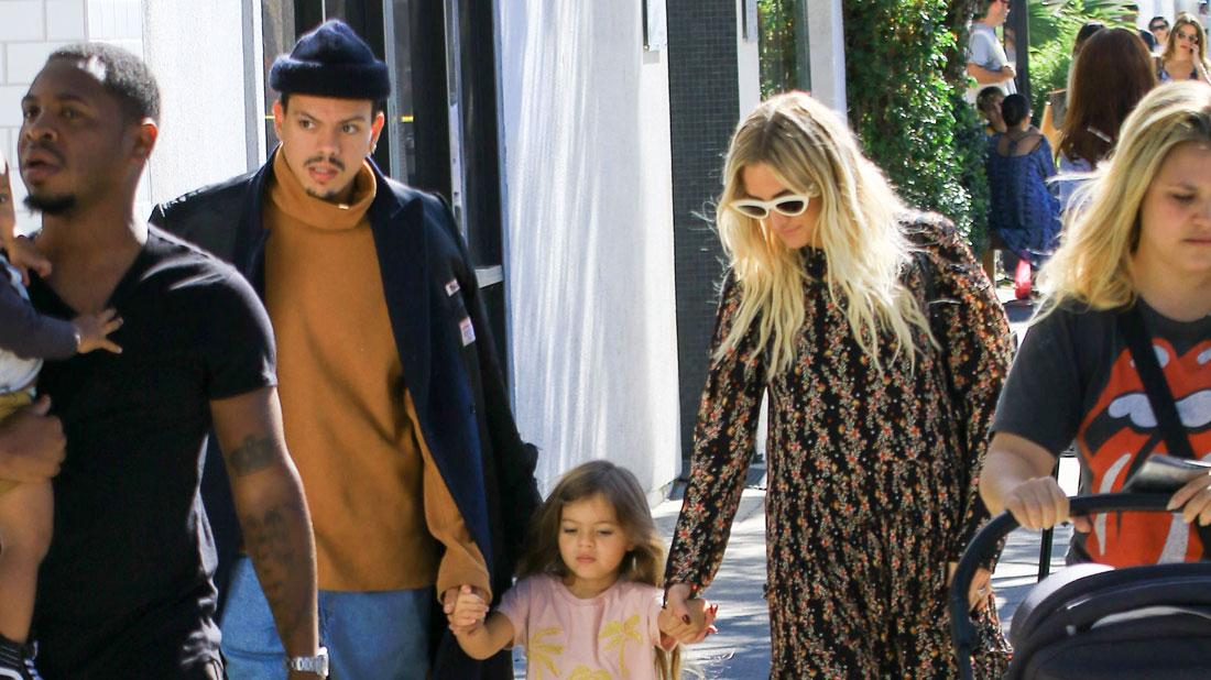Evan Ross & Ashlee Simpson Spend Time With Daughter Jagger Snow