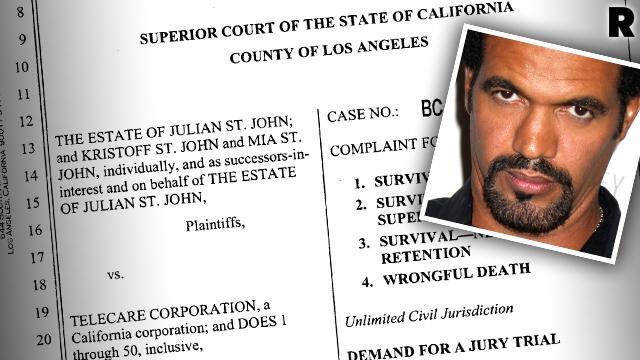 Kristoff St John Wrongful Death Lawsuit Son Death